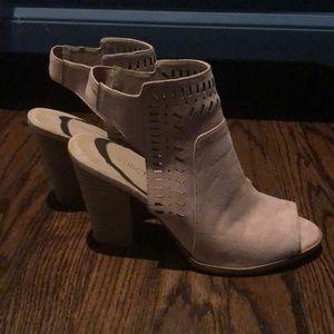 Blush suede shoes size 8